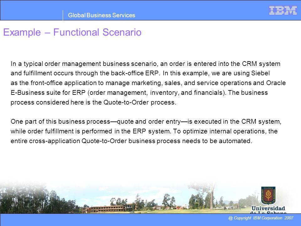 Example – Functional Scenario