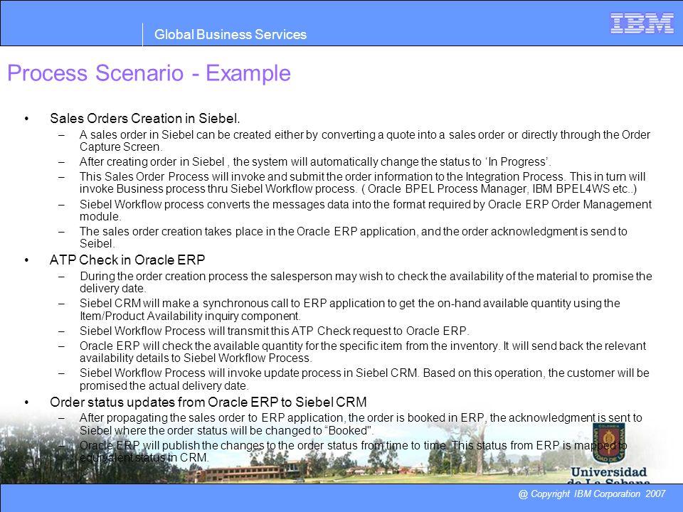 Process Scenario - Example