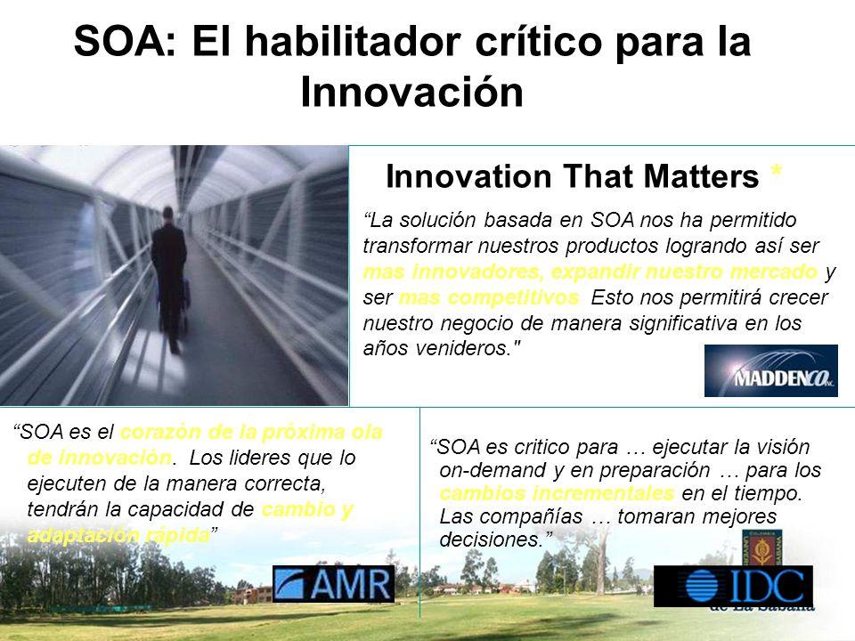 SOA: El habilitador crítico para la Innovación