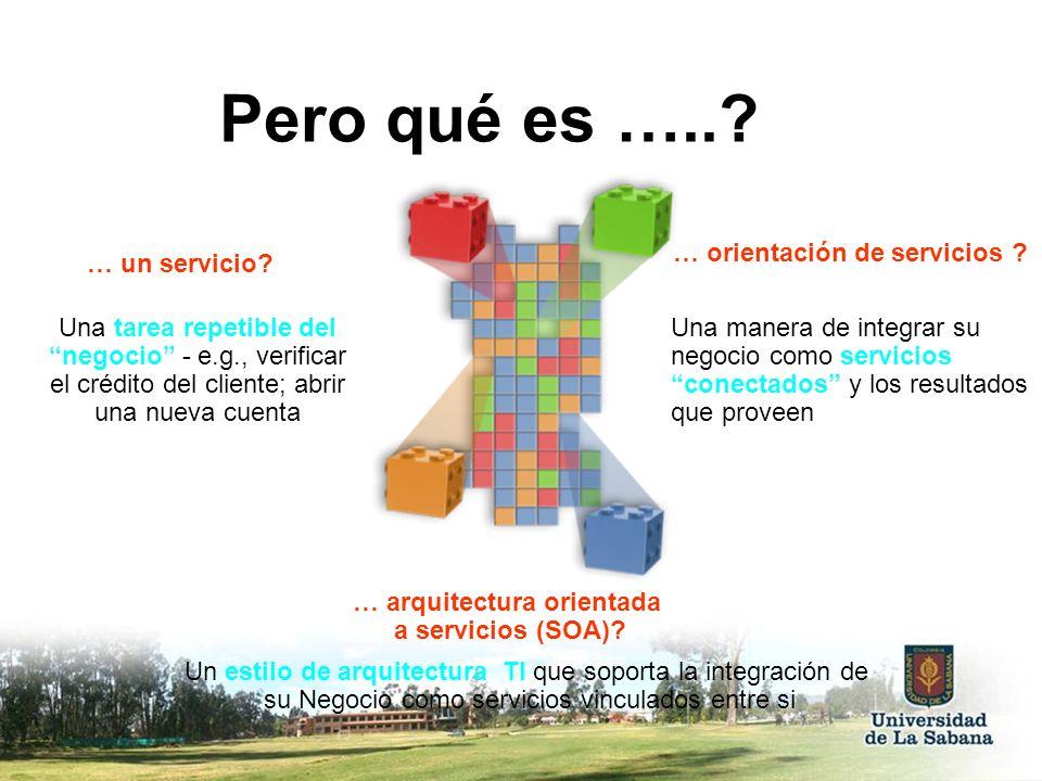 Pero qué es ….. … orientación de servicios … un servicio