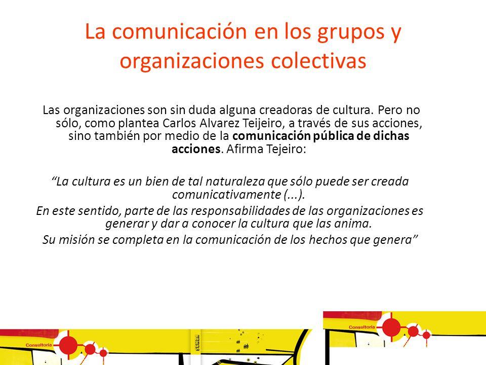 La comunicación en los grupos y organizaciones colectivas