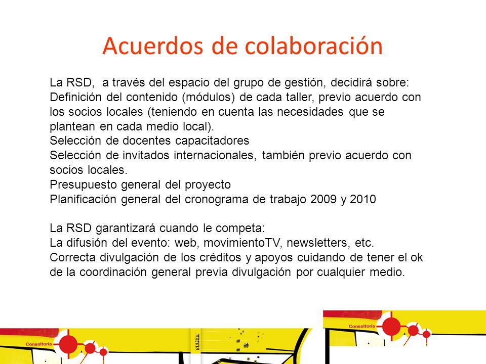 Acuerdos de colaboración