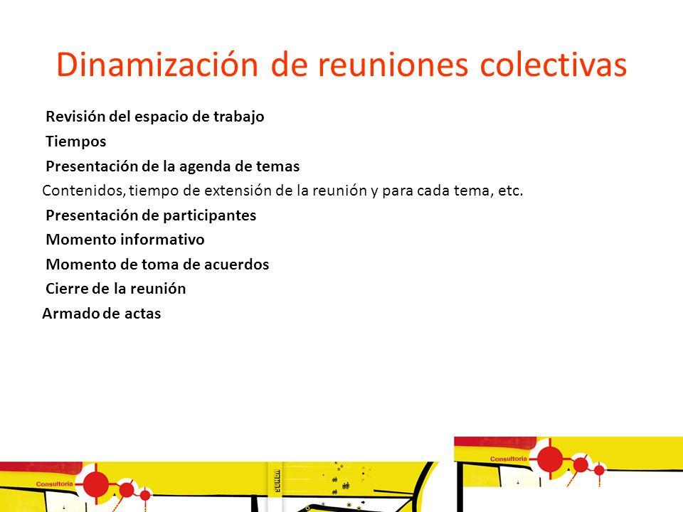 Dinamización de reuniones colectivas