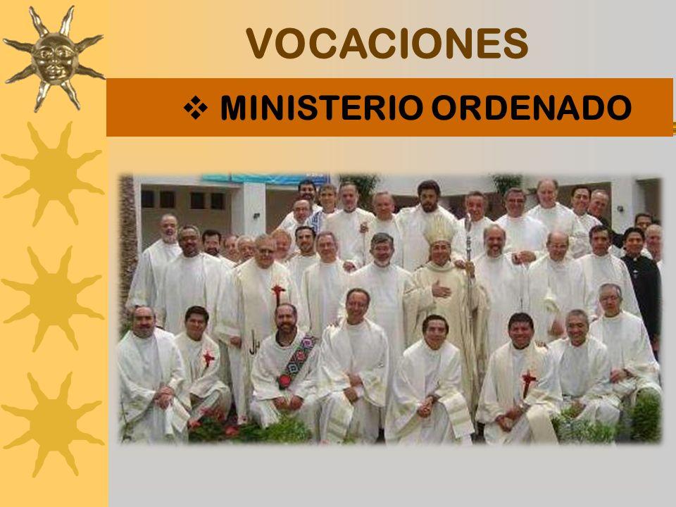 VOCACIONES MINISTERIO ORDENADO