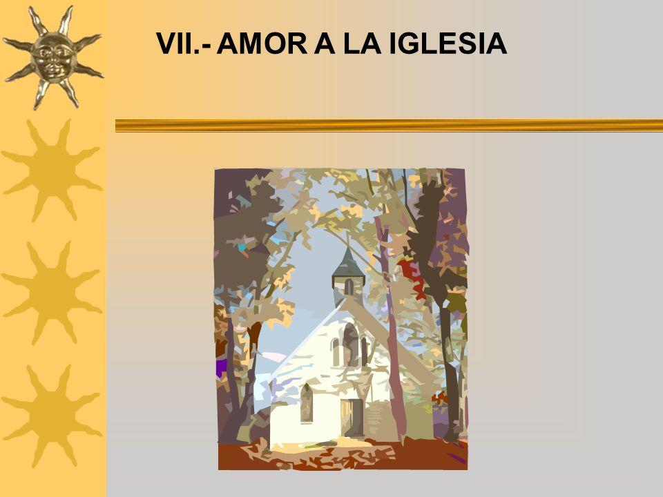 VII.- AMOR A LA IGLESIA