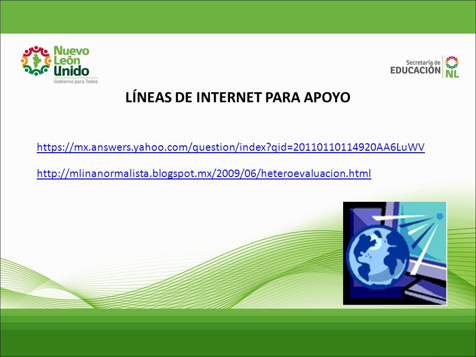 LÍNEAS DE INTERNET PARA APOYO