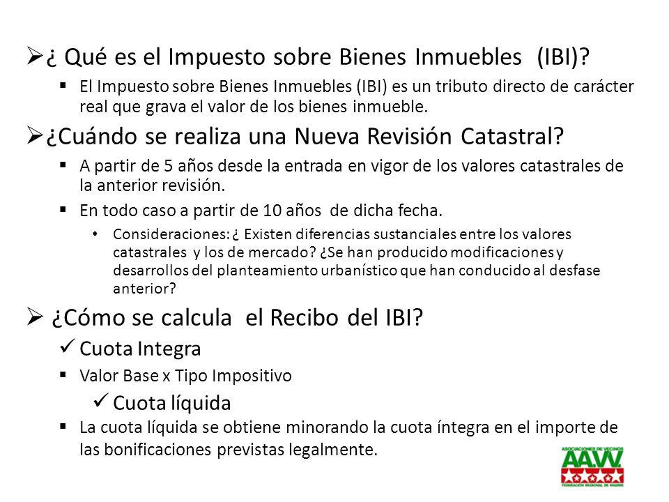 ¿ Qué es el Impuesto sobre Bienes Inmuebles (IBI)