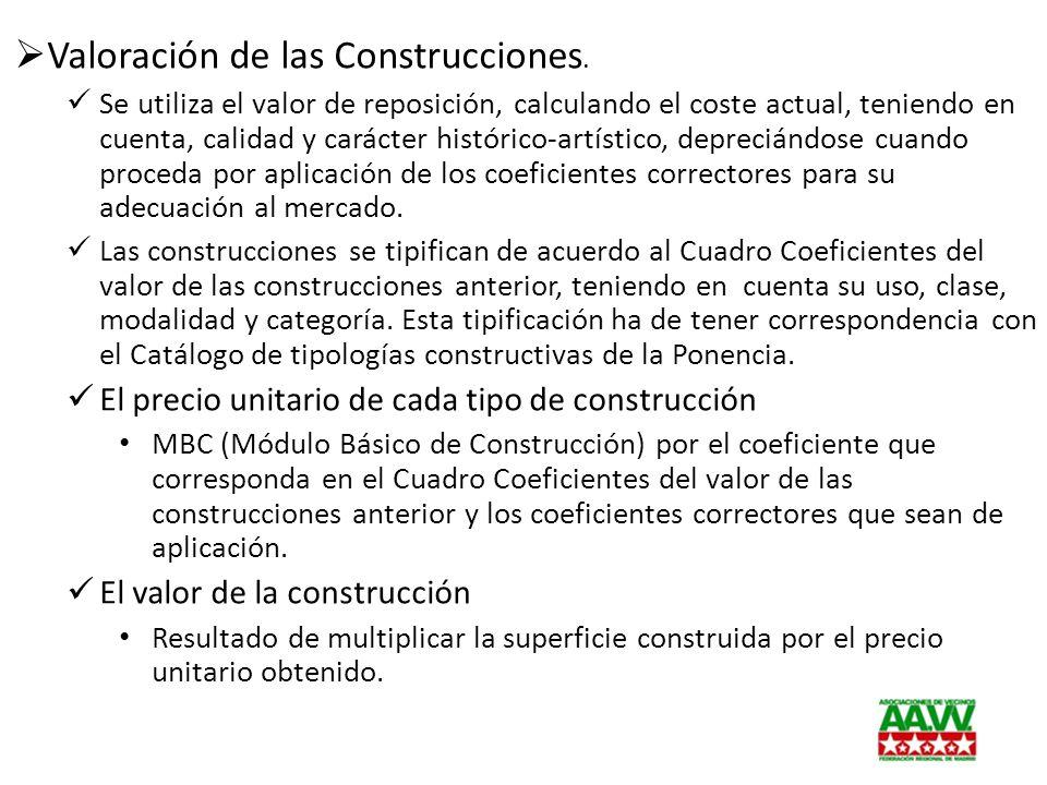 Valoración de las Construcciones.