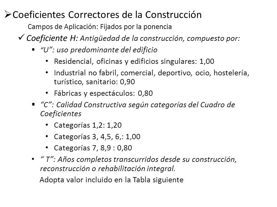 Coeficientes Correctores de la Construcción