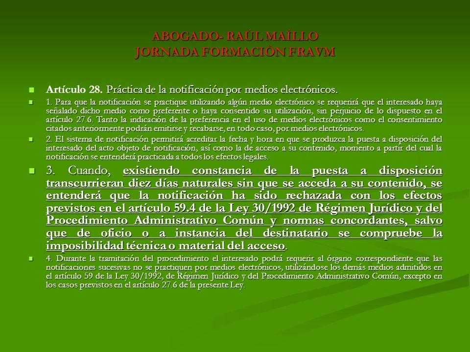 ABOGADO- RAÚL MAÍLLO JORNADA FORMACIÓN FRAVM