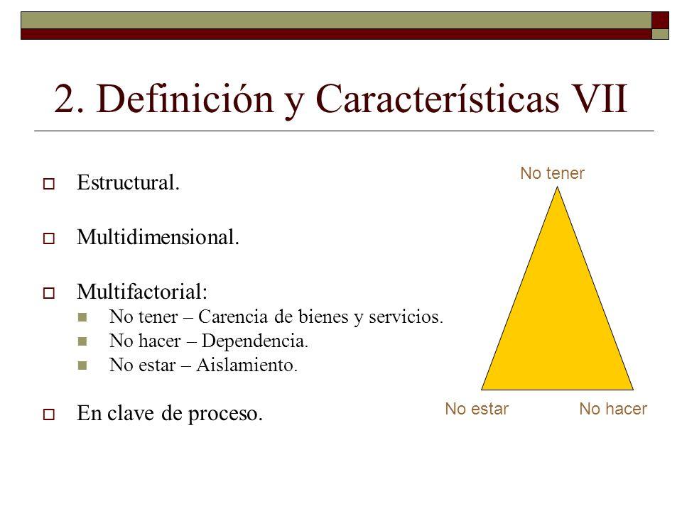 2. Definición y Características VII