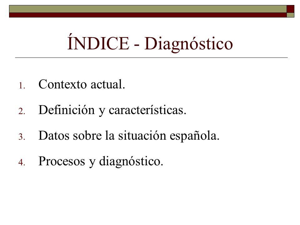 ÍNDICE - Diagnóstico Contexto actual. Definición y características.