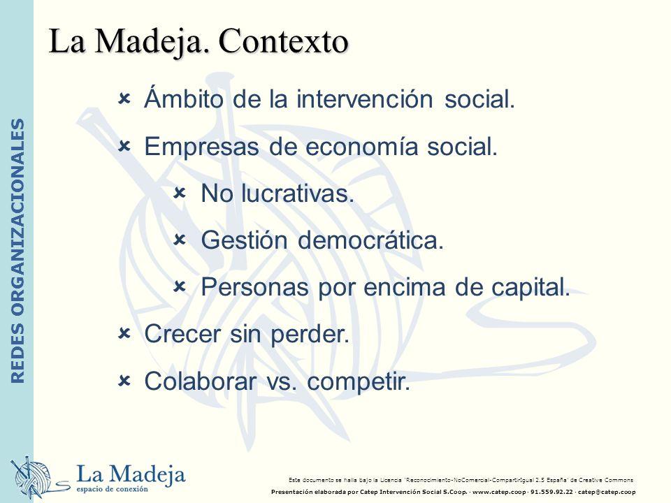 La Madeja. Contexto Ámbito de la intervención social.