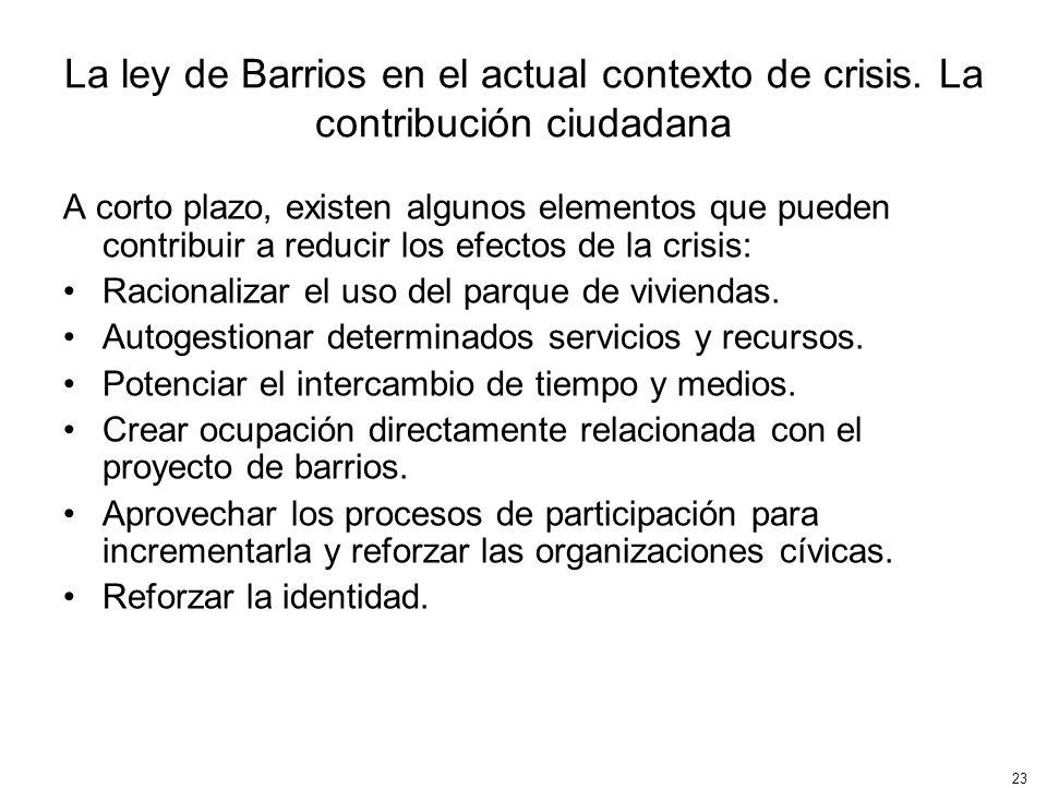 La ley de Barrios en el actual contexto de crisis