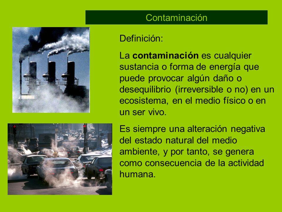 Contaminación Definición: