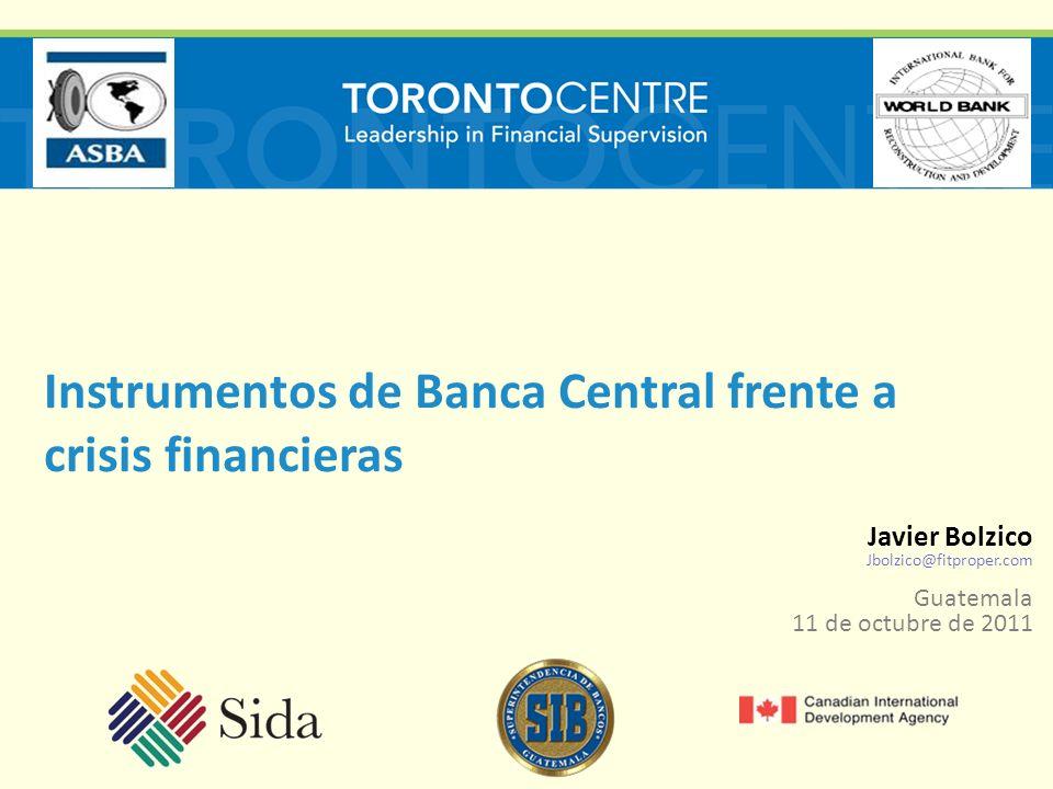 Instrumentos de Banca Central frente a crisis financieras