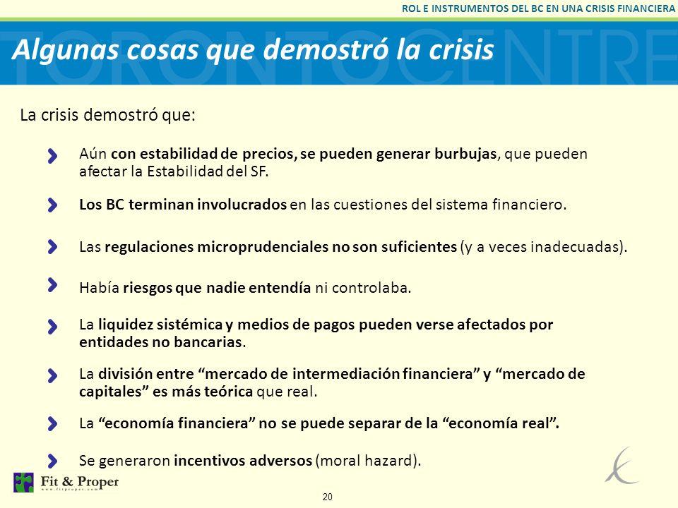 Algunas cosas que demostró la crisis