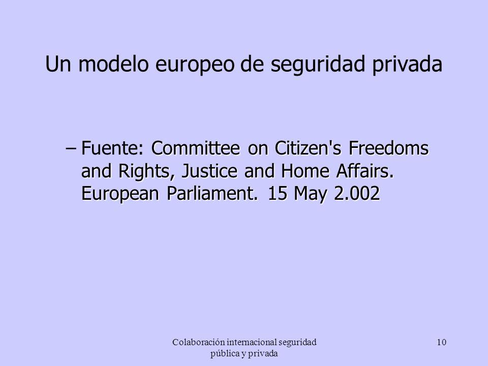 Un modelo europeo de seguridad privada