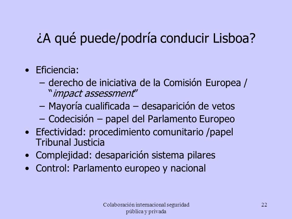 ¿A qué puede/podría conducir Lisboa