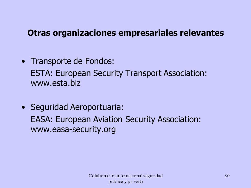 Otras organizaciones empresariales relevantes