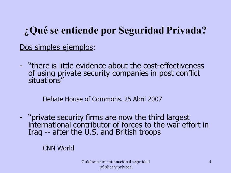 ¿Qué se entiende por Seguridad Privada