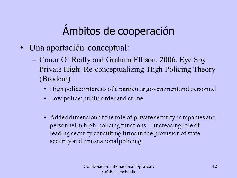 Ámbitos de cooperación