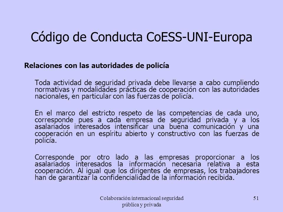 Código de Conducta CoESS-UNI-Europa