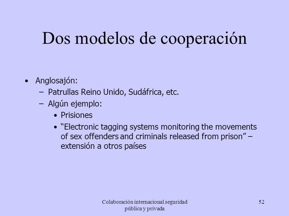 Dos modelos de cooperación