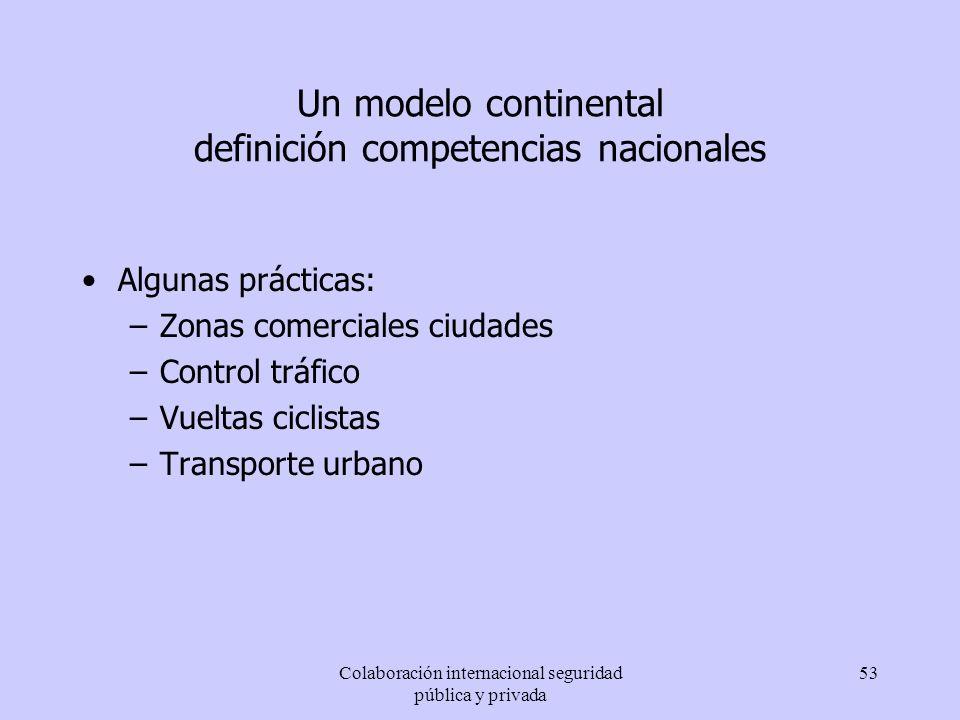 Un modelo continental definición competencias nacionales