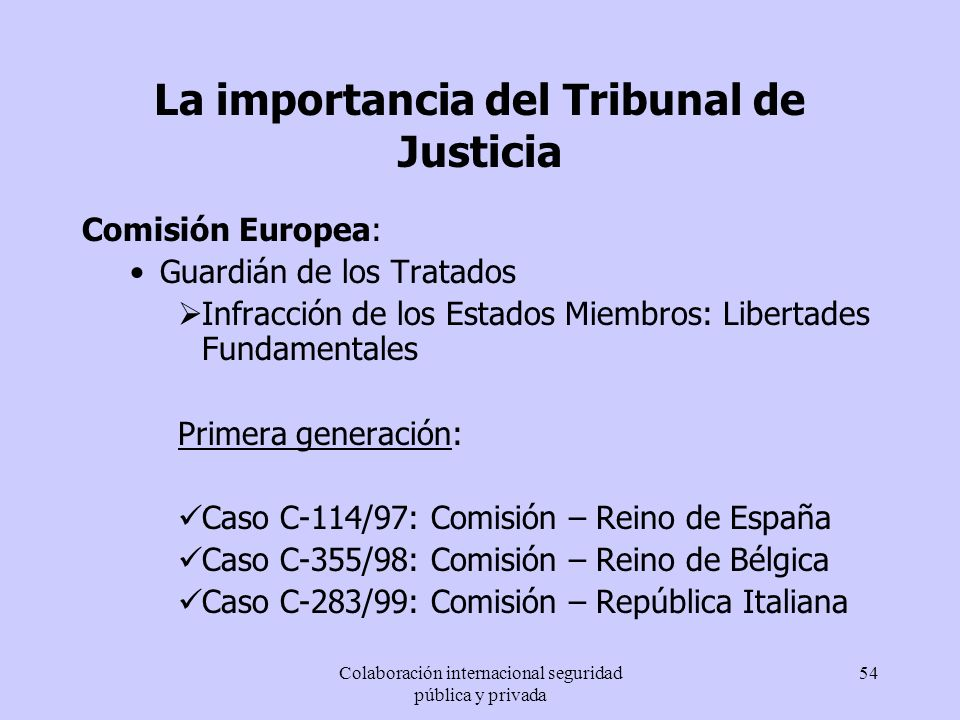 La importancia del Tribunal de Justicia