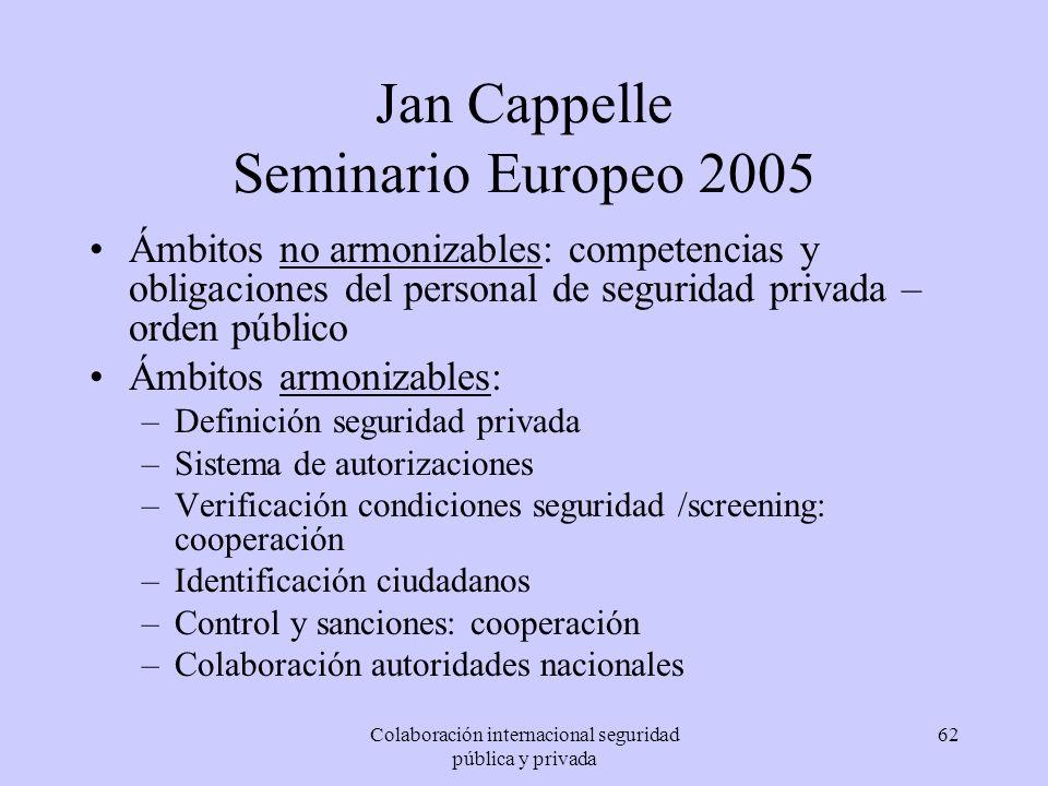 Jan Cappelle Seminario Europeo 2005
