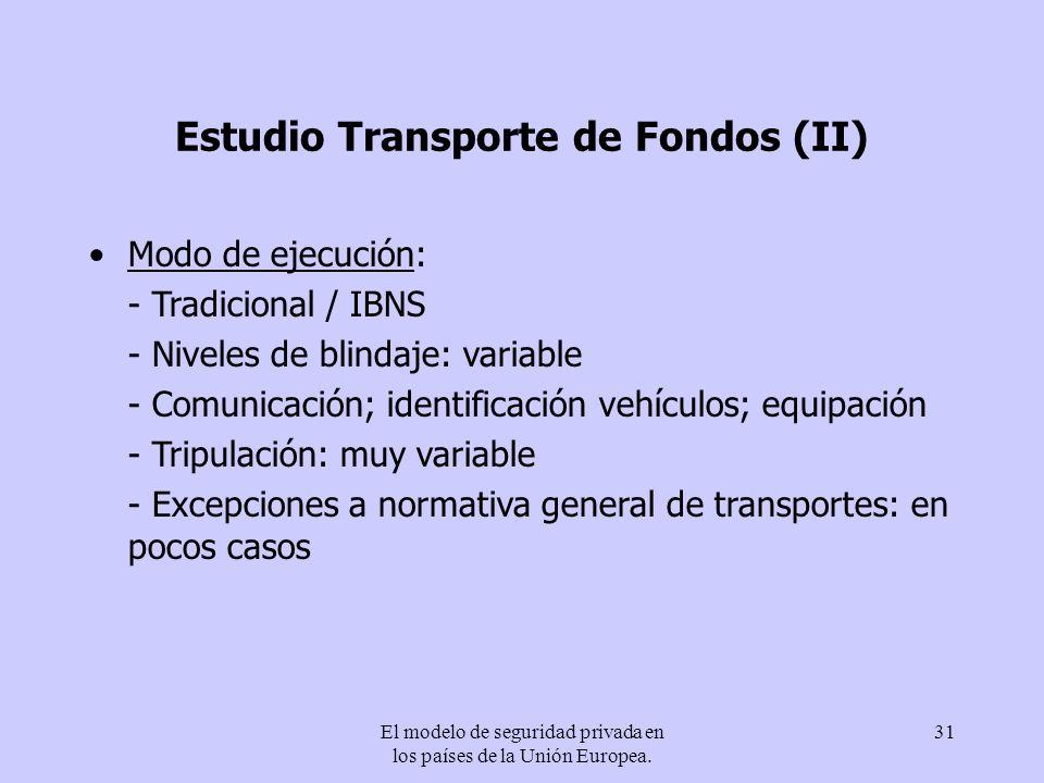 Estudio Transporte de Fondos (II)
