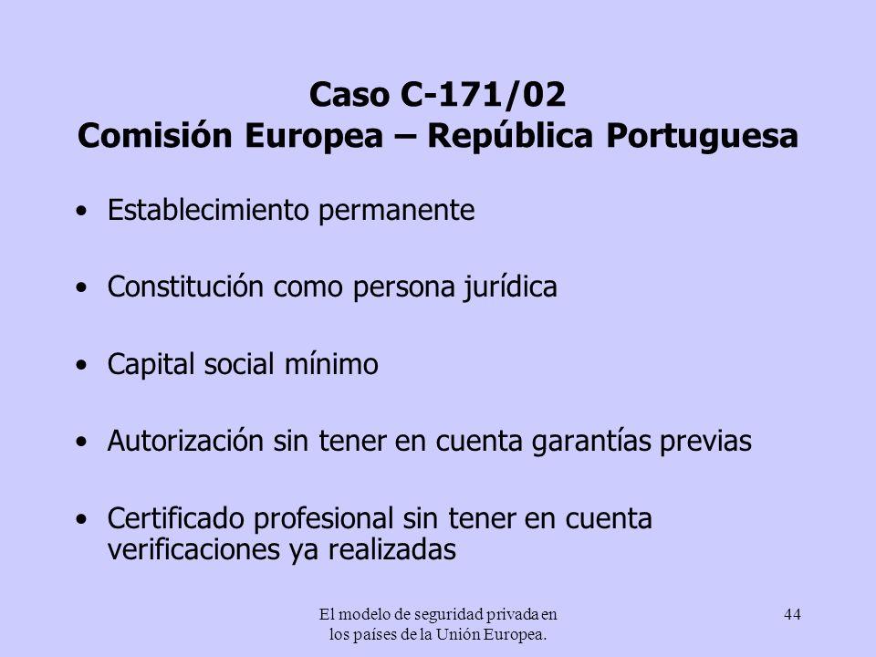 Caso C-171/02 Comisión Europea – República Portuguesa