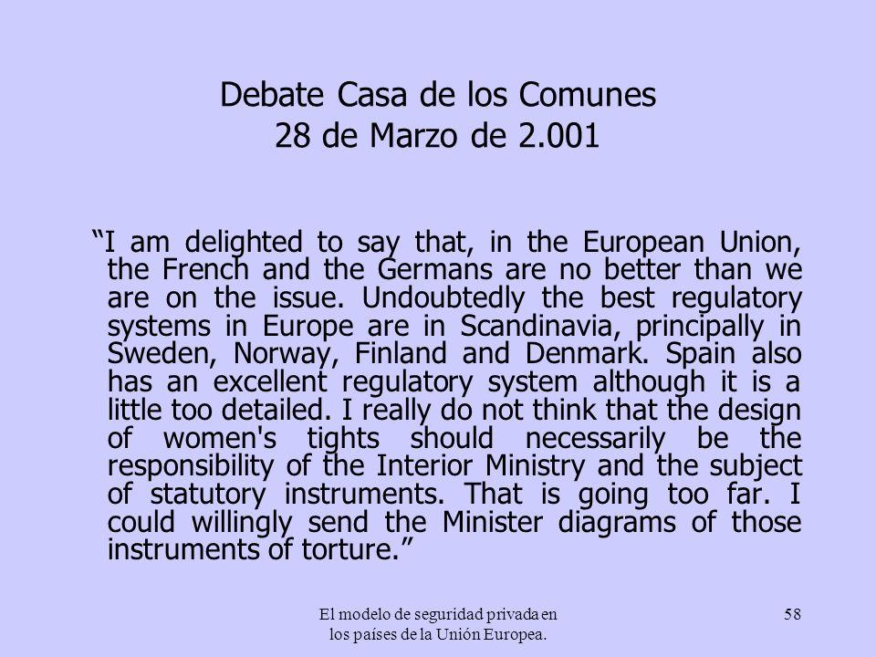 Debate Casa de los Comunes 28 de Marzo de 2.001