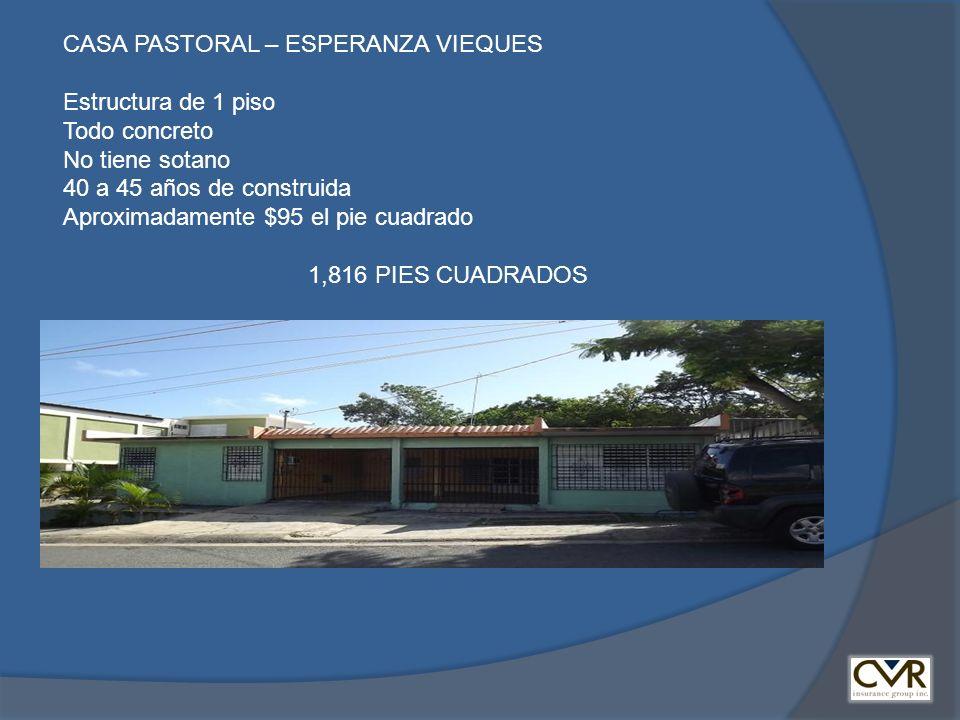 CASA PASTORAL – ESPERANZA VIEQUES
