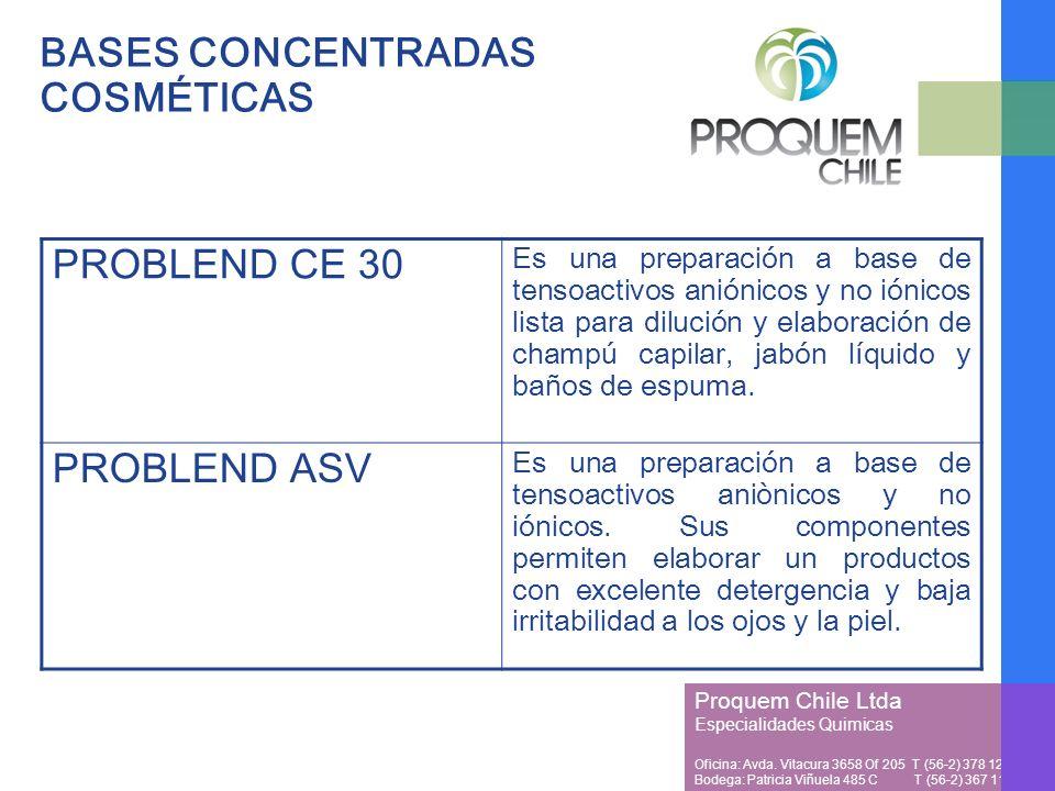 BASES CONCENTRADAS COSMÉTICAS