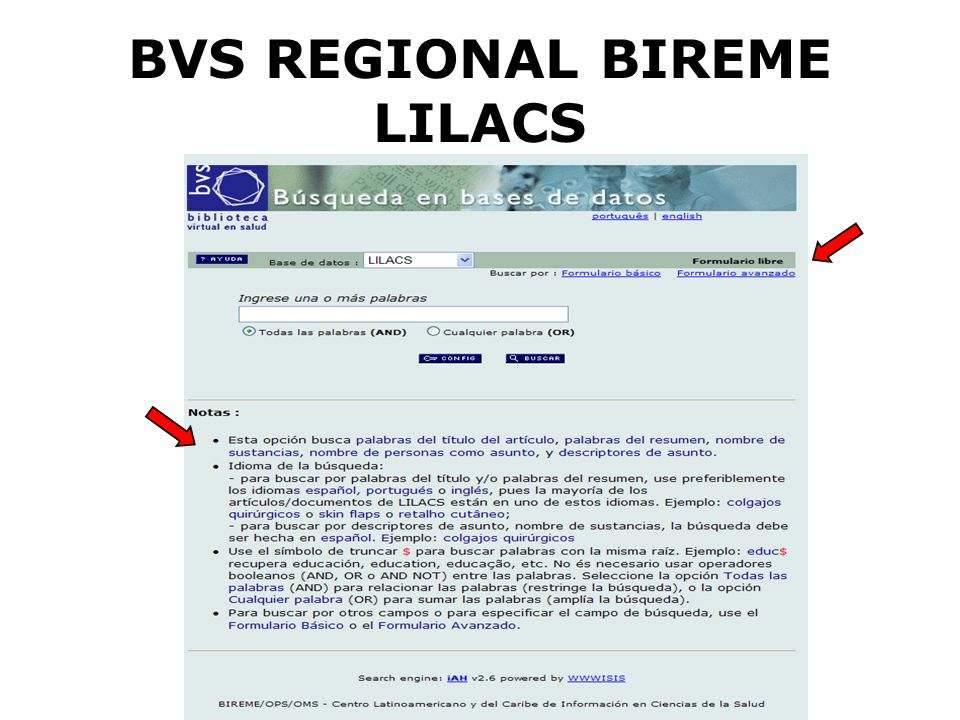 BVS REGIONAL BIREME LILACS