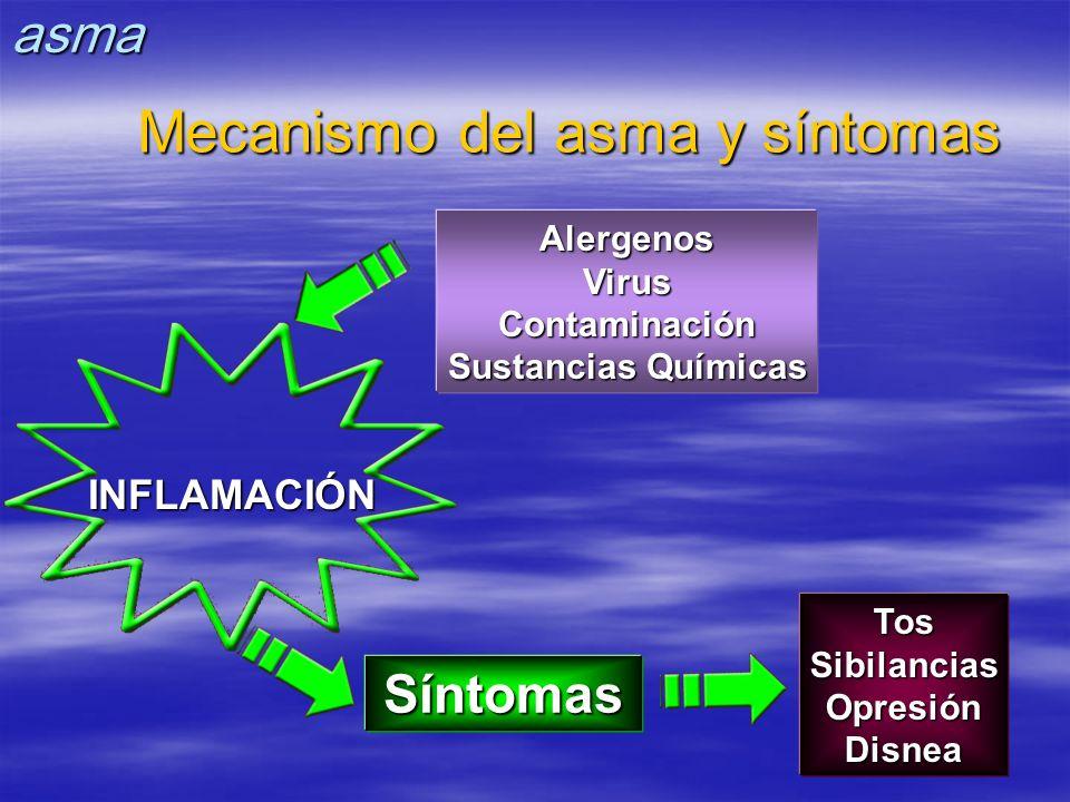 Mecanismo del asma y síntomas