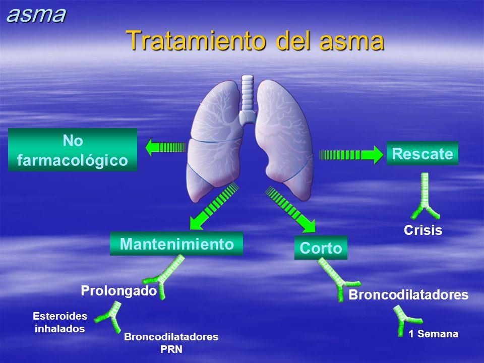 Tratamiento del asma asma No farmacológico Rescate Mantenimiento Corto