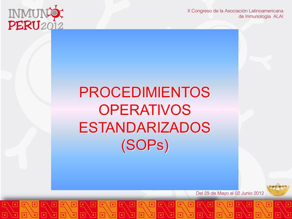 PROCEDIMIENTOS OPERATIVOS ESTANDARIZADOS (SOPs)