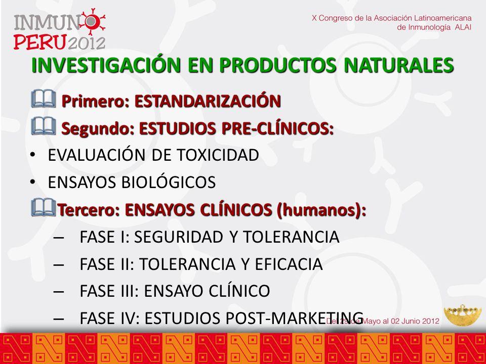 INVESTIGACIÓN EN PRODUCTOS NATURALES