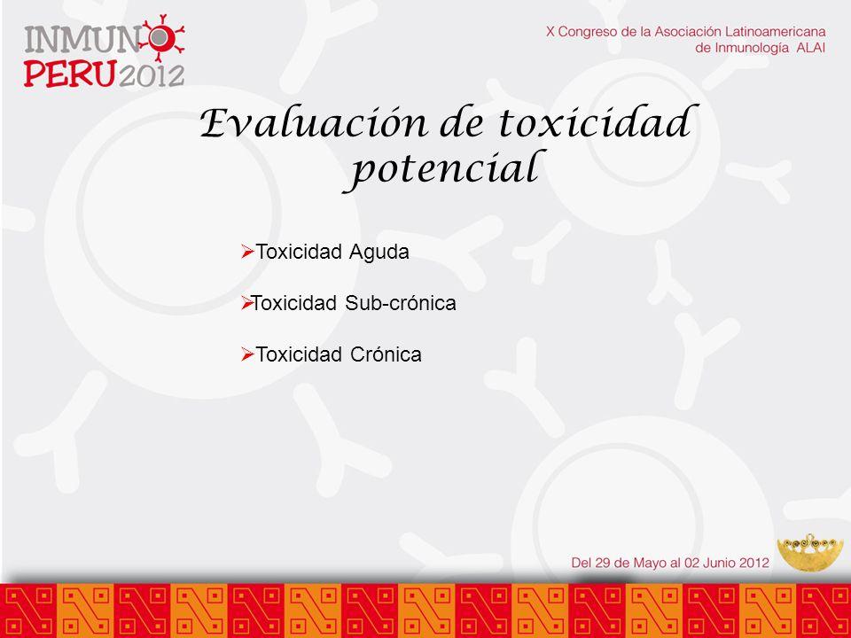 Evaluación de toxicidad potencial