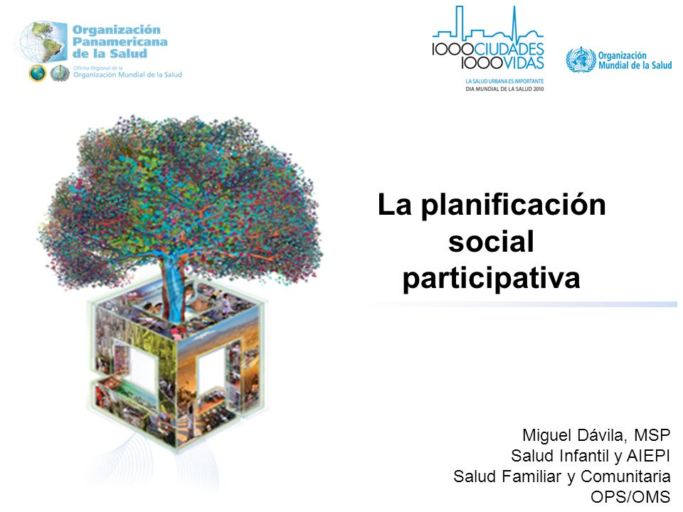 La planificación social participativa