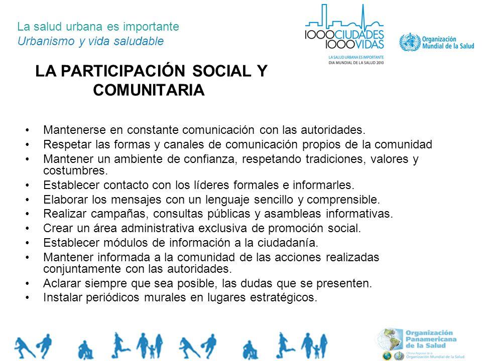 LA PARTICIPACIÓN SOCIAL Y COMUNITARIA