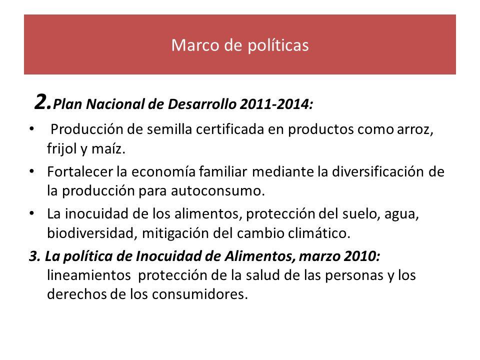 2.Plan Nacional de Desarrollo 2011-2014: