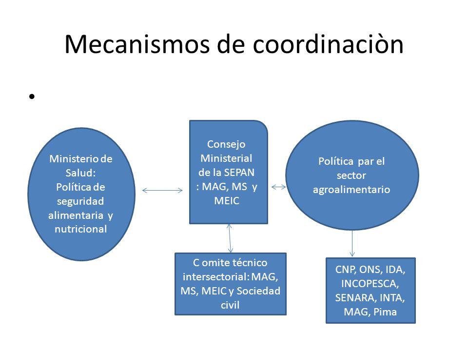 Mecanismos de coordinaciòn