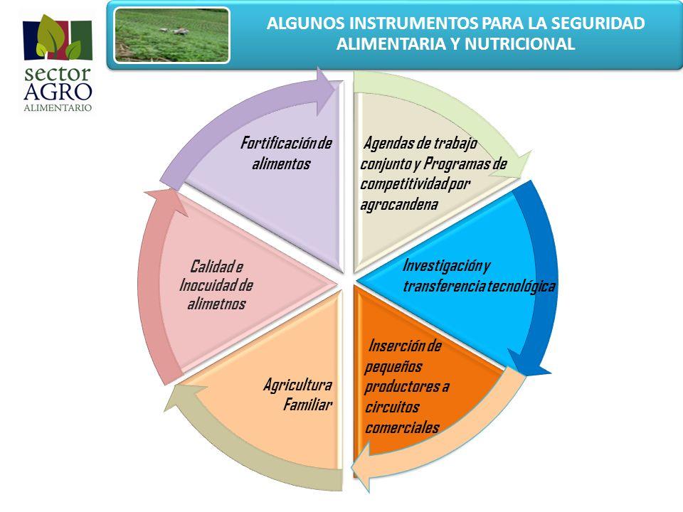 ALGUNOS INSTRUMENTOS PARA LA SEGURIDAD ALIMENTARIA Y NUTRICIONAL