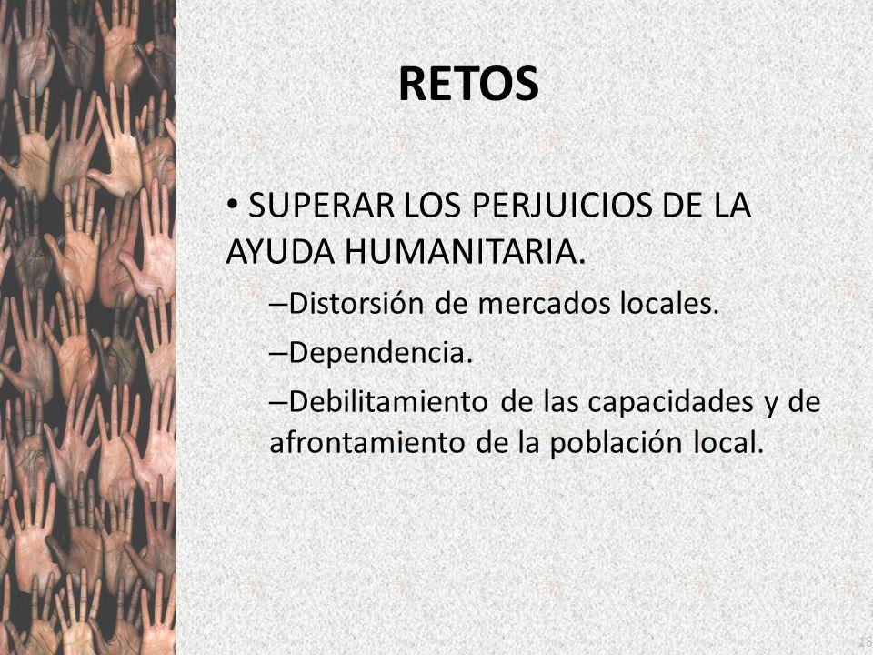 RETOS SUPERAR LOS PERJUICIOS DE LA AYUDA HUMANITARIA.