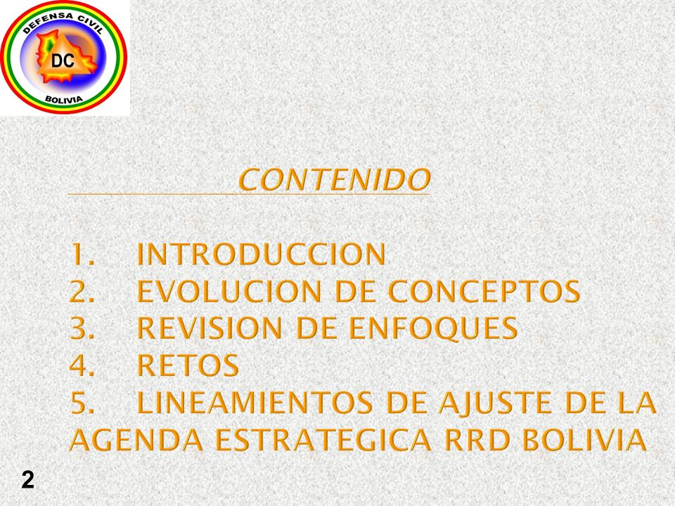 CONTENIDO 1. INTRODUCCION 2. EVOLUCION DE CONCEPTOS 3