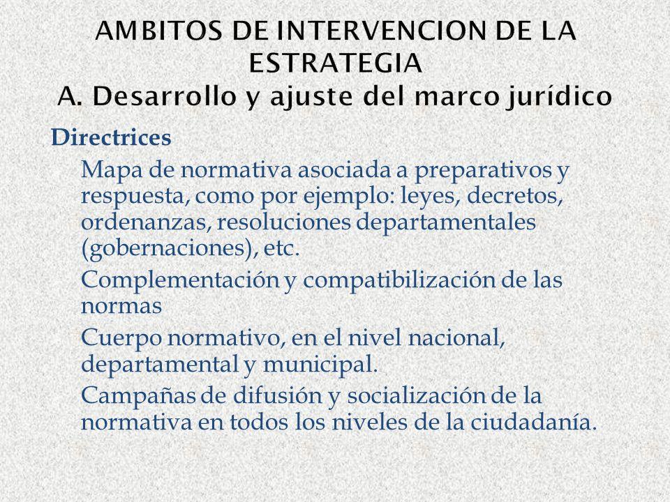 AMBITOS DE INTERVENCION DE LA ESTRATEGIA A